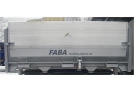Aufkleber FABA Fahrzeugbau AG schwarz / Format 160x1180mm