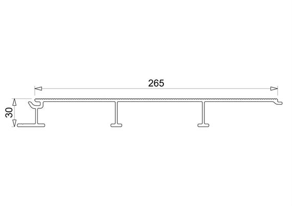 Bodenplanke 30x265 offen geriffelt L=6000mm