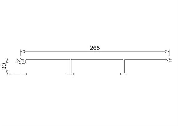 Bodenplanke 30x265 offen glatt L=6000mm