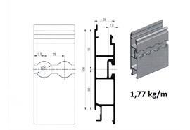 Bordwand mitte 25 x 100 elox L= 7600mm Air Line