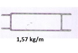Bordwand mitte leicht 30 x 100 elox L= 6500 mm