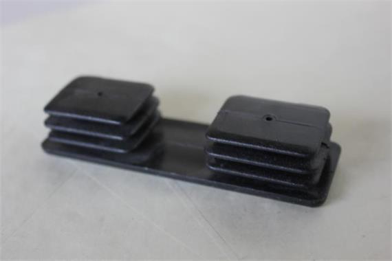 Deckel für Profil 30 x 100 gerippt schwarz