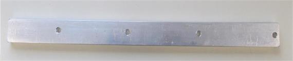 Flachprofilstecker Alu L=395mm