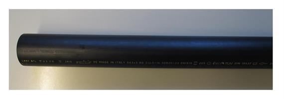 Geberitrohr offen Aussen Ø 63 L = 1150mm