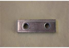 Gewindeplatte S235 30 mm Lochabstand