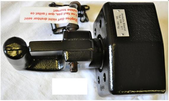 Hakenkupplung 6 to LB 85x45 gefedert
