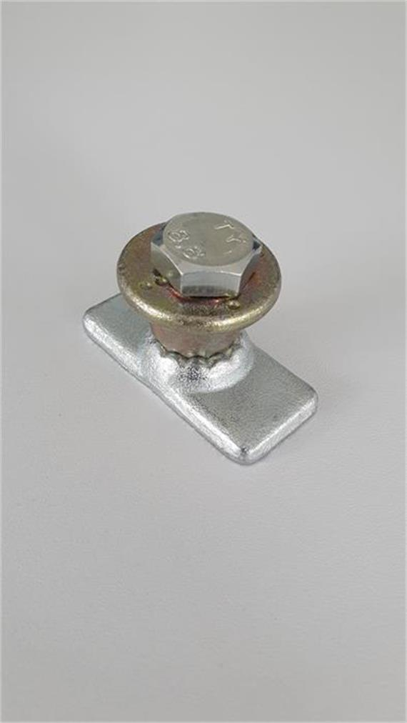 Haltenocke zu Hebelspannverschluss mit verzinkter Gewindeplatte und Exzenterscheibe