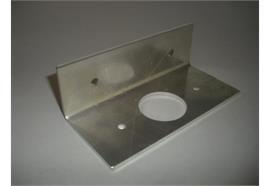 Halteplatte zu Seitenleuchte MB Actros/Axor gebogen