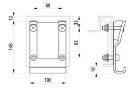 Kinnegrip K20 Anschraubtasche mit Befestiungsmaterial