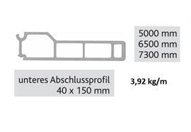 Kipperbordwandprofil unten 40 x 150 L = 7300 mm