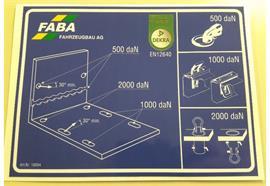 Kleber für Zurrpunkt Kipper bis 7.5 t / Brücke bis 3.5 t