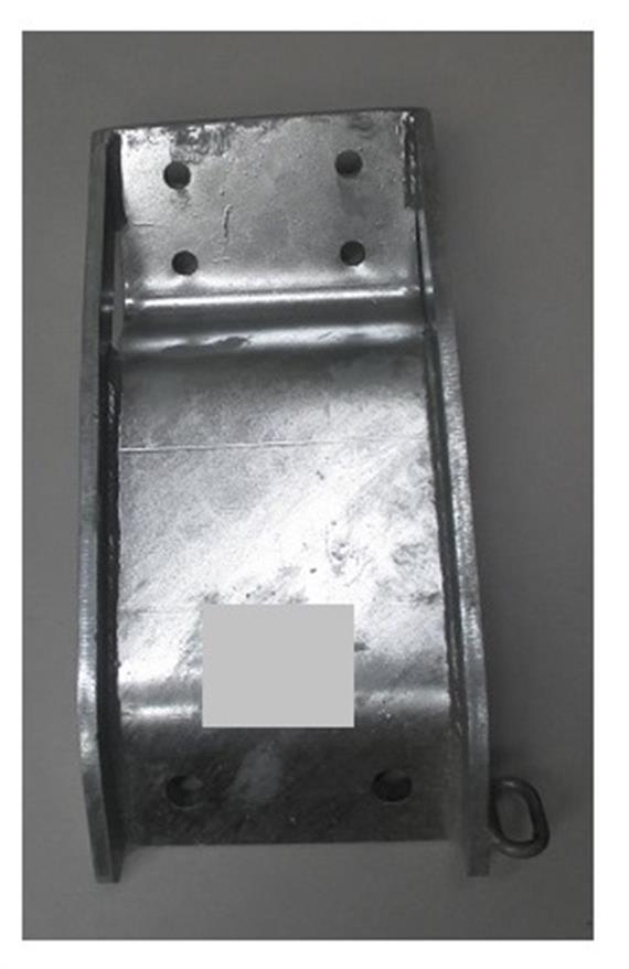 Kombikupplung 3.5 t Lochbild 85x45 Kombiplatte - schweissen intern/extern