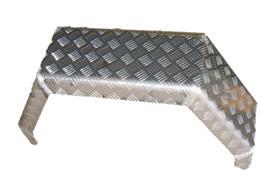 Kotflügel Alu-Riffel 3.5t einfachbereift