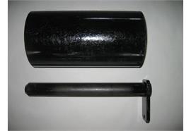 Laufrolle Stahl 330 x 160 x 45 mm mit Bolzen