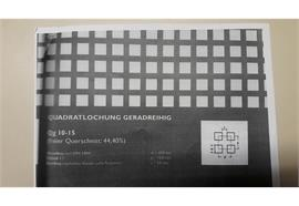 Lochblech (quadrat) Alu einseitig mit Folie 2x1000x2000
