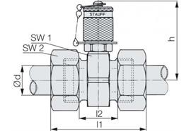 Minimess - Kupplung M16 20S Anschluss beidseitig