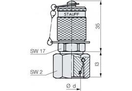 Minimess - Kupplung M16 20S einseitig Mutter