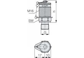 "Minimess - Kupplung M16 GE 1/4"""
