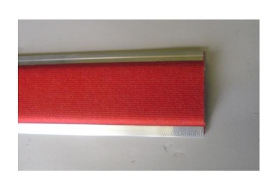 """Polsterlatte aus Alu L = 4500 mm """"rot"""""""