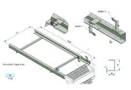 Rahmen zu ausziehbarer Treppe B= 710 mm