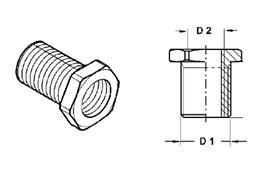 Raufoss Schottstutzen M22x1.5/M16x1.5