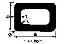 Rechteckrohr Alu 30 x 60 x 3 o.R L= 6500 mm