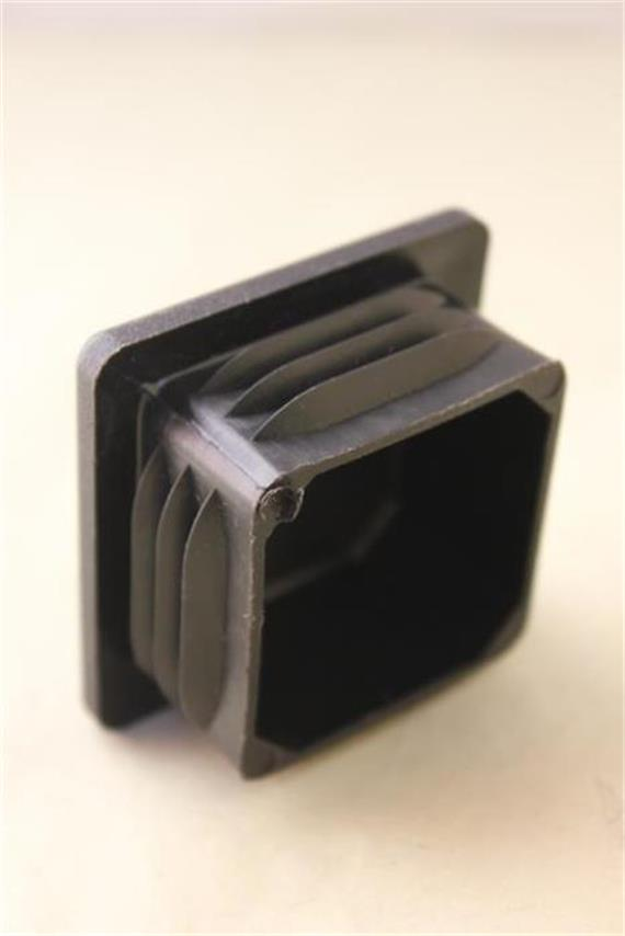 Rohrabschluss 50x50 (Bodengleiter) schwarz