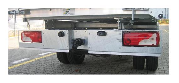 Schlusstraverse mit Unterfahrschutz 3-teilig verzinkt zu MB-5er DK