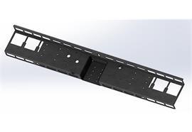 Schlusstraverse mit Unterfahrschutz verzinkt zu MB Sprinter 5er NK, Lochbild