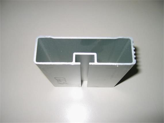 Seitenschutzprofil 30 x 100 gerippt elox L= 6000 mm