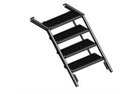 Treppe ausziehbar Alu 4 Stufen B= 705mm