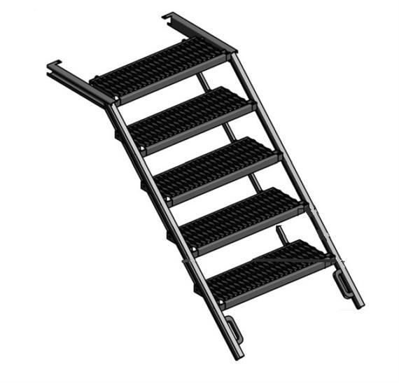 Treppe ausziehbar Alu 5 Stufen B= 705mm