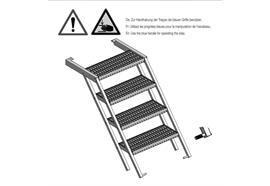 Treppe ausziehbar verzinkt 5 Stufen B= 705 mm
