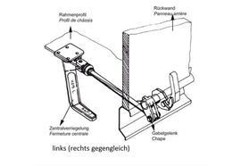 Übertotpunktspanner m. Gabelg. re lange Ausf. 30mm