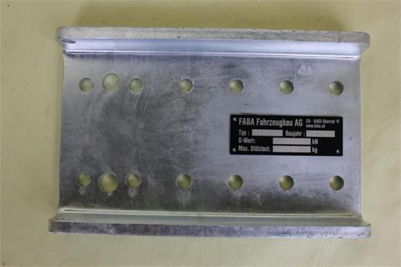 Versetzplatte - Anhängekupplung LB 85x45 M12