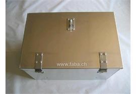 Werkzeugkiste Alu glatt 572 x 371 x 335 (BxHxT) mit Riegelverschluss