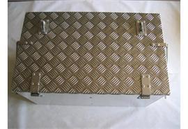 Werkzeugkiste Alu Tränenbl. 710 x 420 x 385 (BxHxT) mit Riegelverschluss