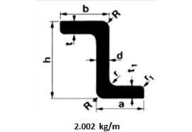 Z-Profil-Alu 60x40x5 L=6500mm