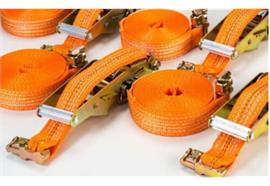 Zurrgurt 35 mm mit Doppelfitting zu Airlinezurrschiene
