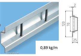 Zurrschiene - Stäbli Alu 120 x 25 L = 5000 mm